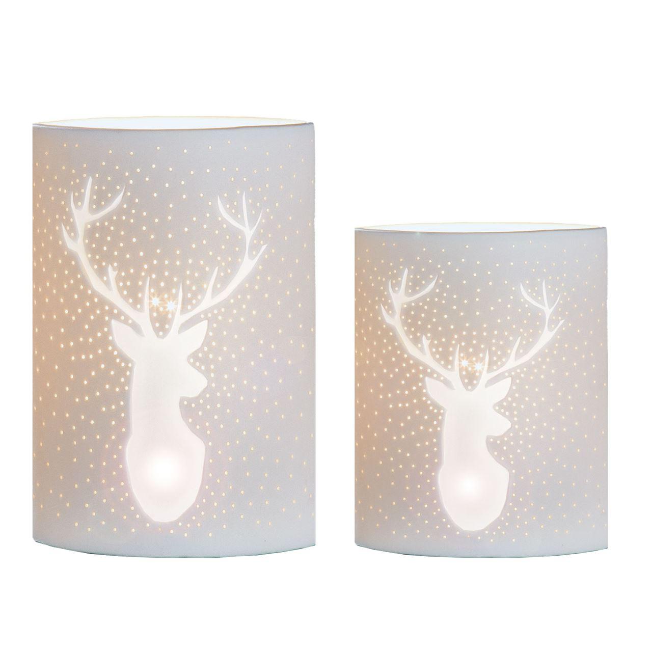 Porzellan Lampe mit
